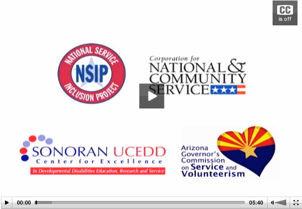 Arizona Inclusion NOW - Link to national service video