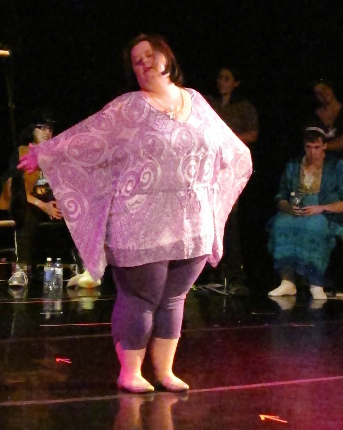 """Emily Rine performing a dance routine to """"Somewhere over the Rainbow"""""""