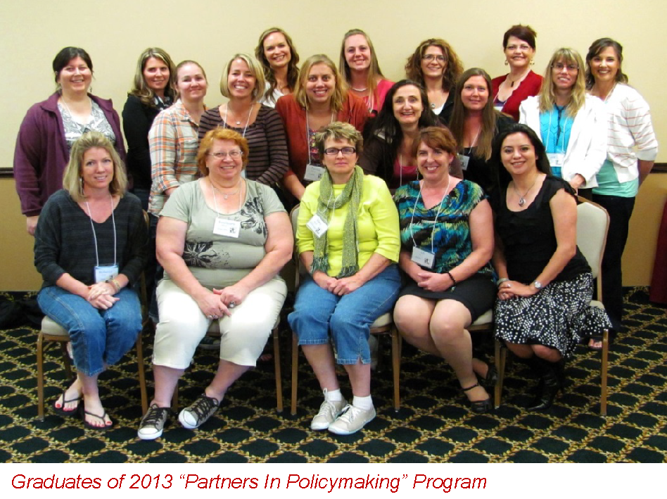 """Graduates of 2013 """"Partners In Policymaking"""" Program"""