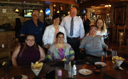 Lunch with Idaho delegation and self-advocates.