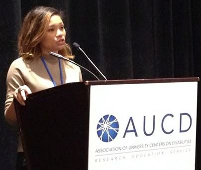 Jacy presenting at AUCD conference